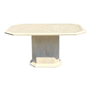 Maitland Smith Style Tessellated Stone Marble Dining Table For Sale