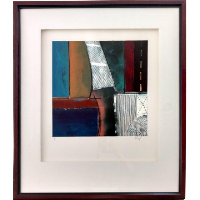 Kamy Deljou Abstract Mixed Media Monotype I - Image 1 of 8