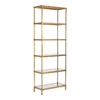 Chelsea House Inc Gold Etagere For Sale