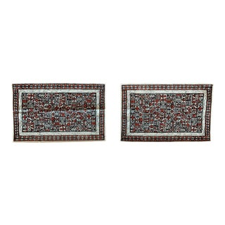 1970s Handmade Art Print on Fabric Placemats- a Pair For Sale
