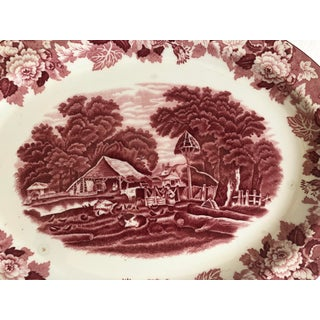 """English Meat Earthenware Platter by Woods Ware England """"English Scenery"""" Preview"""
