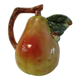 Vintage Figural Pear Serving Pitcher For Sale