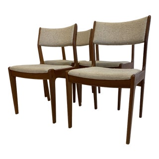 1970s Scandinavia Woodworks Dining Chairs- Set of 4 For Sale