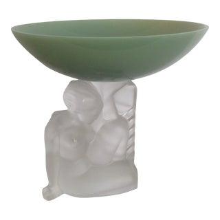 Art Deco Sèvres Crystal Figurine Dish For Sale
