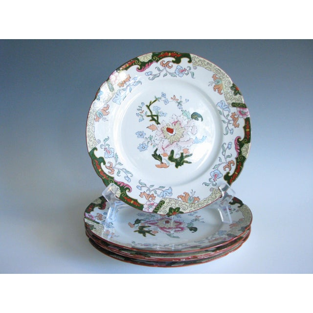 Antique Ashworth Brothers Hanley English Dinner Plates - Set of 5 For Sale - Image 10 of 10