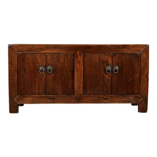 19th C. Shanshi Chinese Four Door Elm Sideboard For Sale