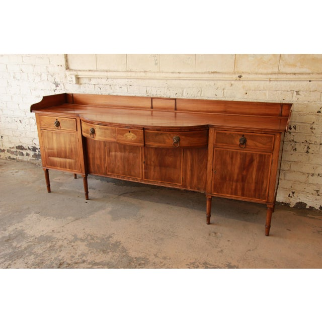 Early 19th Century 1820s English Inlaid Mahogany Sideboard For Sale - Image 5 of 11