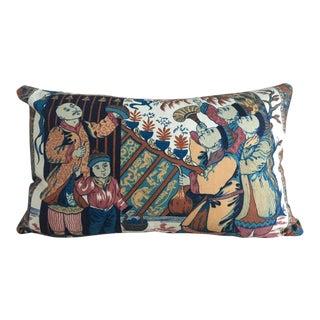 """Designer """"Chinese Astronauts"""" Bespoke Lumbar Pillow"""