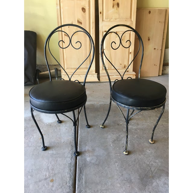 Mid-Century Bistro Chairs - a Pair - Image 2 of 3