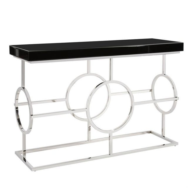 Contemporary Kenneth Ludwig Stainless Steel Circle Console For Sale - Image 3 of 3