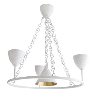 Arteriors White McKenna Fixed Chandelier For Sale