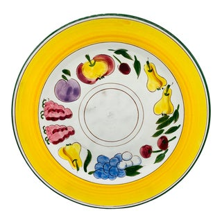 1940's Stangl Pottery Festival Chop Plate For Sale