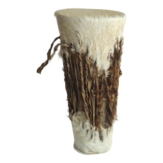 20th Century Tribal Goat Skin Drum For Sale