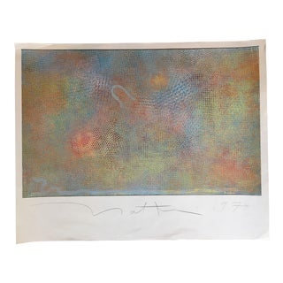 1974 Vintage Robert Natkin Signed Abstract Print For Sale