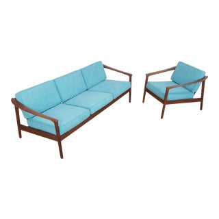 Mid Century Folke Ohlsson Sofa & Chair - A Pair For Sale
