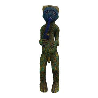 African Art Tribal Art Beaded Bamileke Statue From Cameroon For Sale
