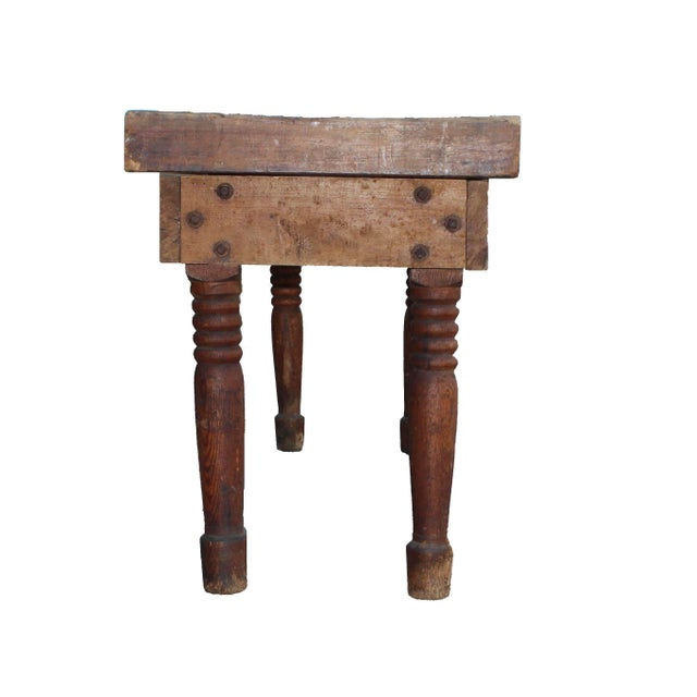 Antique Farm Table For Sale - Image 4 of 8