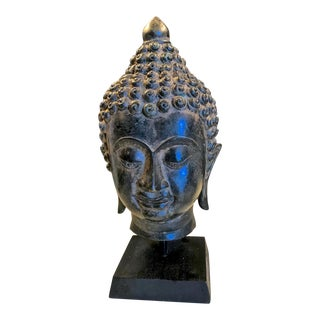 Iron Buddha Head 20th C. For Sale