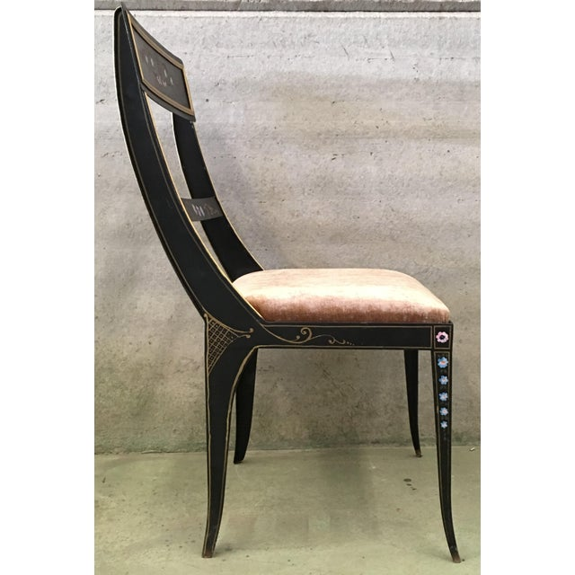 Early Regency or Gustavian Bellman Chair After Sheraton, Set of Six Iron Chairs For Sale In Miami - Image 6 of 10