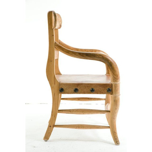 1960s Rustic Michael Taylor Pine Chair For Sale - Image 5 of 9