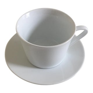 Ariane Style White Fine Porcelain Cup & Saucer