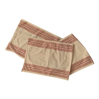 Pottery Barn Red Striped Table Runner For Sale