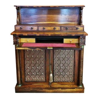 18c British Regency Bureau Secretaire Chiffonier in the Manner of Gillows For Sale