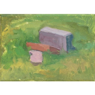 """Three Bricks"" Original Oil Painting on Canvas by Michelle Farro For Sale"