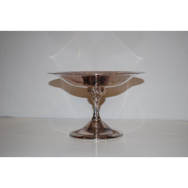 1940s Vintage Silver Compote For Sale - Image 4 of 4