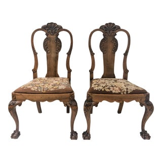 19th C. Queen Anne Style Chairs -A Pair For Sale
