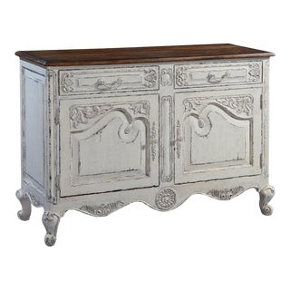 Server Sideboard French Country Raised Panel For Sale