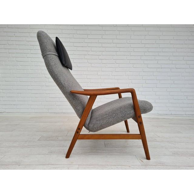 Danish Design by Alf Svensson, Model Kontour, 70s, Completely Renovated-Reupholstered For Sale - Image 12 of 13