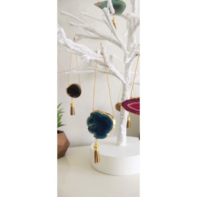Modern Boho Agate Holiday Ornaments - Set of 7 - Image 5 of 11