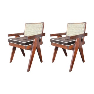 Teak Chairs in the Style of Pierre Jeanneret - a Pair For Sale