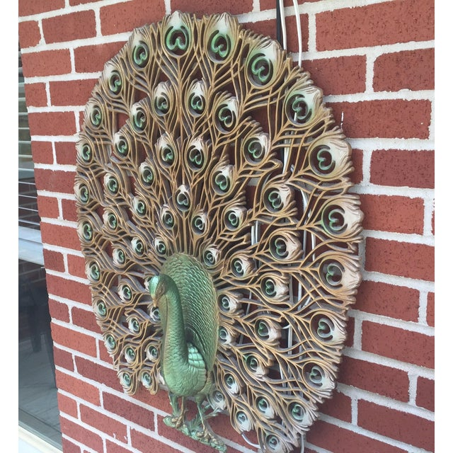 1960s Mid Century Modern Peacock Decor For Sale - Image 4 of 4