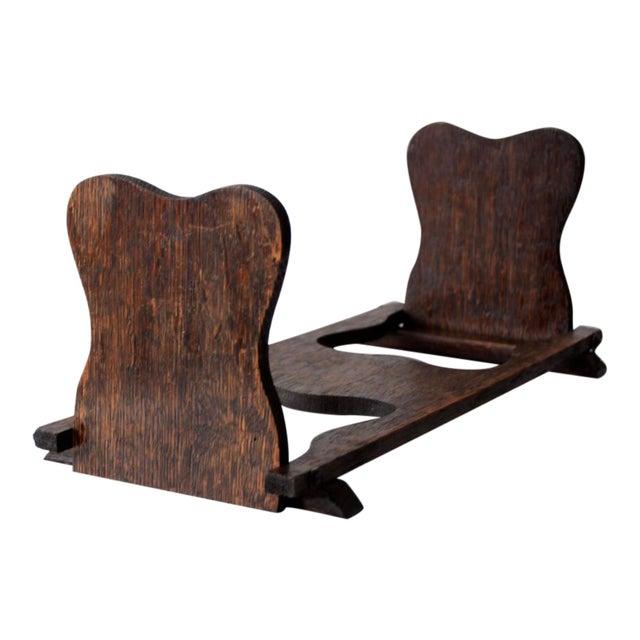 Antique Folding Wood Bookend Shelf - Image 1 of 6