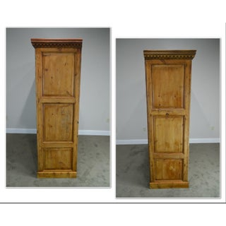 Antique Scottish Pine Large Rustic 2 Door Armoire Cabinet Preview
