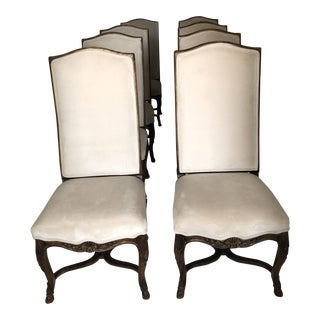 1990s Century Furniture Upholstered Dining Chairs- Set of 8 For Sale