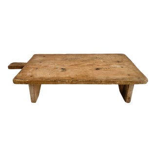 Turkish Footed Breadboard Charcuterie Board For Sale