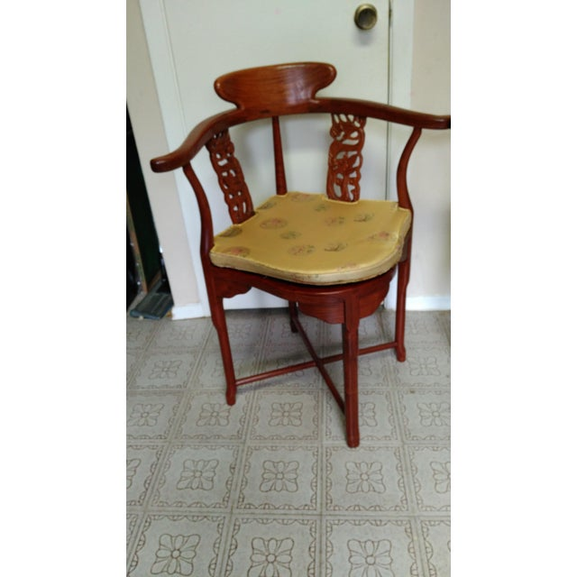 Chinese Solid Rosewood Corner Chairs - A Pair For Sale - Image 4 of 11