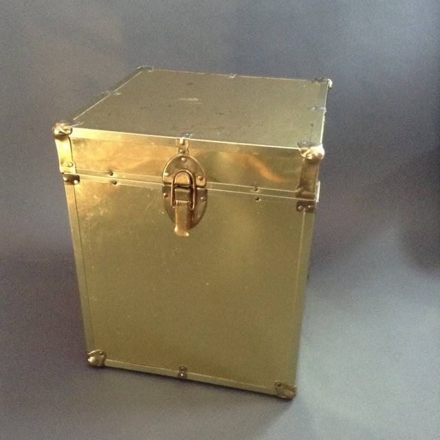 1970's Brass Clad Trunk - Image 2 of 7
