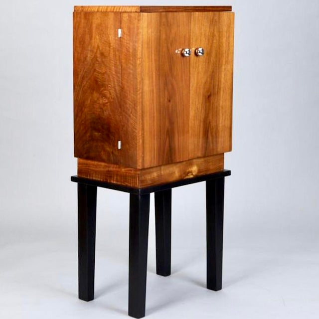 Art Deco Wooden Cabinet on Metal Stand - Image 2 of 9