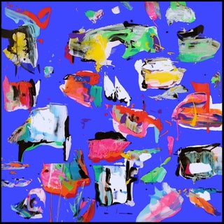 Atlas Ultramar Blue'' Painting For Sale