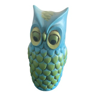 1960s Mid Century Owl Container For Sale