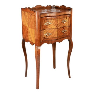 19th Century Louis XV Style Marquetry Side Table For Sale