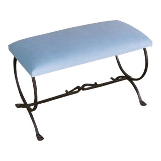 1940s Spanish Wrought Iron Bench For Sale