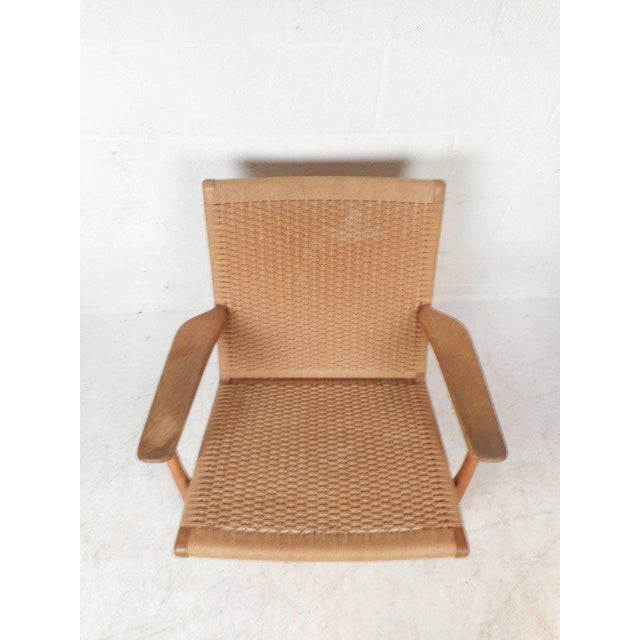 Hans Wegner Hans Wegner for Carl Hansen Mid-Century Modern Ch 25 Lounge Chair For Sale - Image 4 of 11