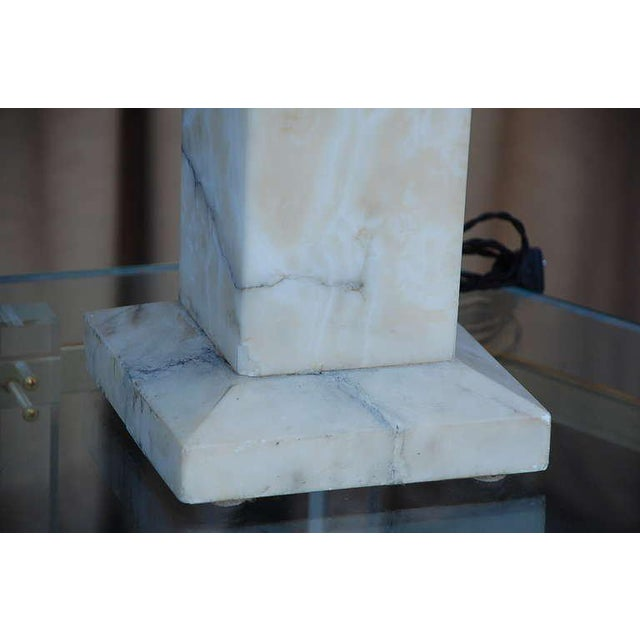 Spectacular Alabaster Obelisk Lamp For Sale - Image 4 of 7