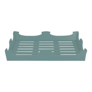 Oomph Ocean Drive Outdoor Console Tray, Green For Sale