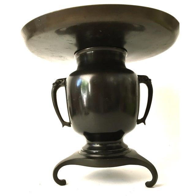 Japanese Usabata Bronze Flower Vase - Image 6 of 6